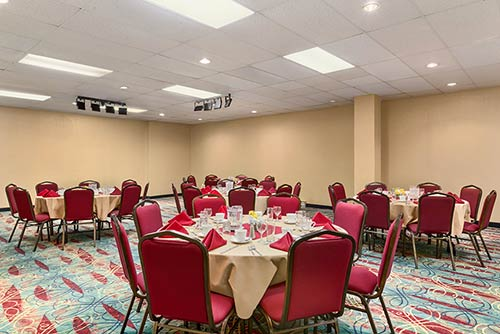 A large event room at the Days Inn Stephenville near the Stephenville Plaza